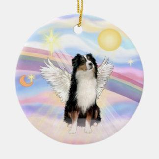 Clouds - Australian Shepherd Angel (tri) Christmas Ornament