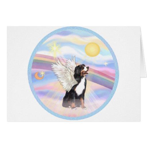 Clouds - Bernese Mountain Dog Angel Card