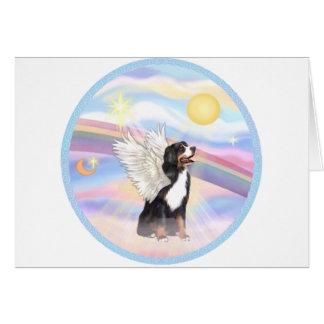 Clouds - Bernese Mountain Dog Angel Greeting Card