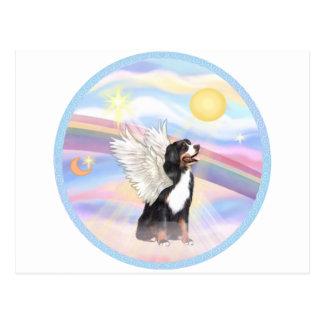 Clouds - Bernese Mountain Dog Angel Postcard