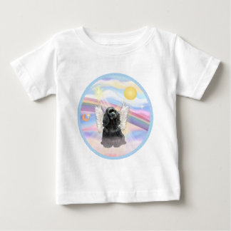 Clouds - Black Cocker Spaniel Baby T-Shirt