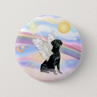 Clouds - Black Labrador Retriever Angel 6 Cm Round Badge