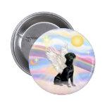 Clouds - Black Labrador Retriever Angel Pin