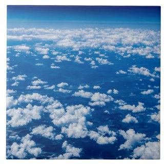 Clouds blue tile