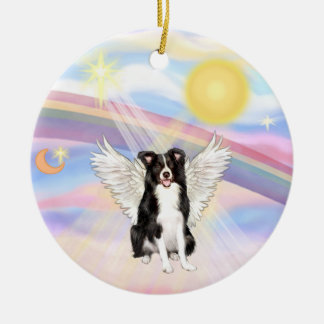 Clouds - Border Collie Christmas Ornament