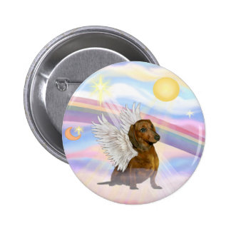 Clouds - Brown/Red Dachshund Angel 6 Cm Round Badge