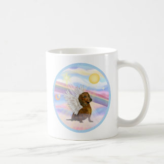 Clouds - Brown/Red Dachshund Angel Coffee Mug