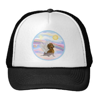 Clouds - Brown/Red Dachshund Angel Mesh Hats
