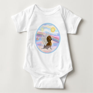 Clouds - Brown/Red Dachshund Angel Infant Creeper
