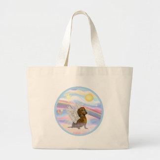 Clouds - Brown/Red Dachshund Angel Jumbo Tote Bag