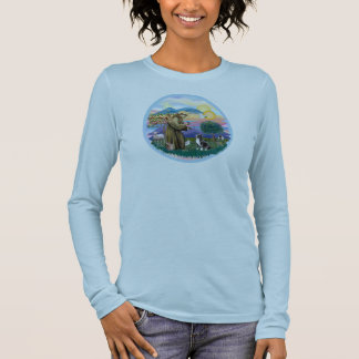 Clouds - Brown/Red Dachshund Angel Long Sleeve T-Shirt