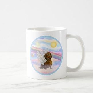 Clouds - Brown/Red Dachshund Angel Mug