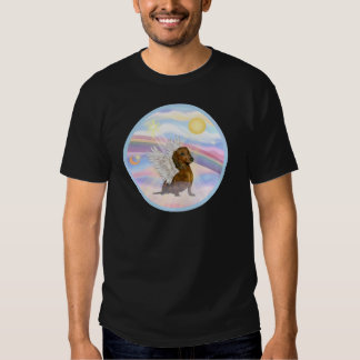 Clouds - Brown/Red Dachshund Angel T Shirts