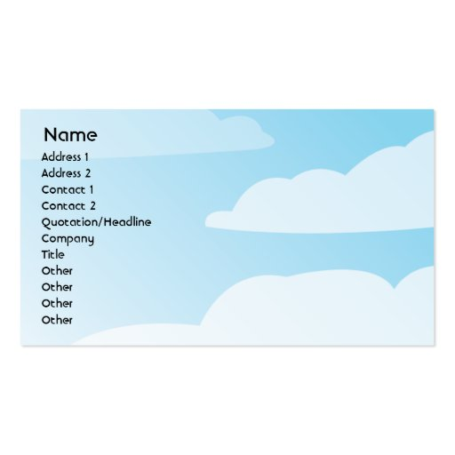 Clouds - Business Business Card Template
