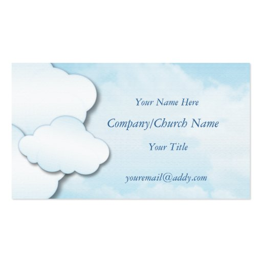 Clouds Business Card Template