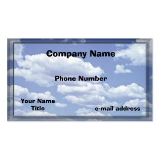 Clouds Business Card Templates