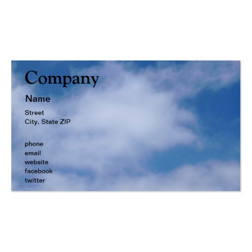 Clouds Business Cards