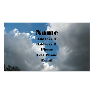 Clouds Double-Sided Standard Business Cards (Pack Of 100)