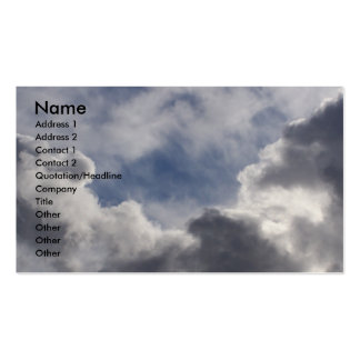 Clouds Pack Of Standard Business Cards