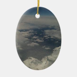 clouds ceramic oval decoration