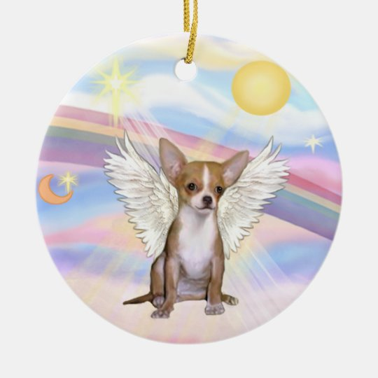 Clouds - Chihuahua (light red) Christmas Ornament