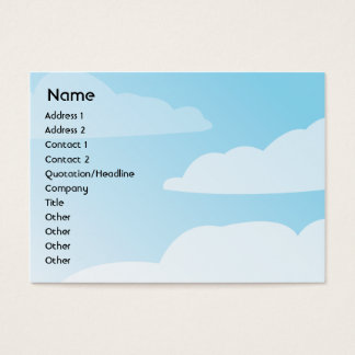 Clouds - Chubby Business Card
