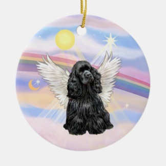 Clouds - Cocker Spaniel (black) Christmas Ornament