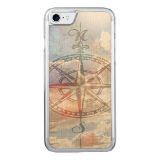 Clouds Compass Carved iPhone 8/7 Case