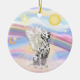 Clouds - Dalmatian Round Ceramic Decoration