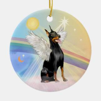 Clouds - Doberman Pinscher Christmas Ornament