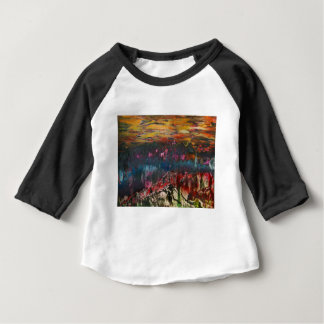 Clouds drifting over landscape baby T-Shirt