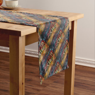 Clouds drifting over landscape short table runner