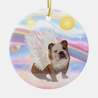 Clouds - English Bulldog Angel Christmas Ornament