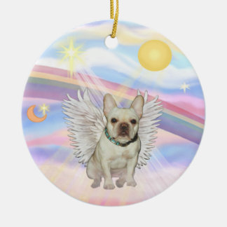 Clouds - French Bulldog (fawn 1) Christmas Ornament