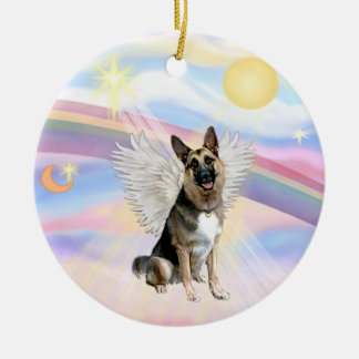 Clouds - German Shepherd (#3) Christmas Ornament