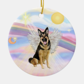 Clouds - German Shepherd (#6) Christmas Ornament