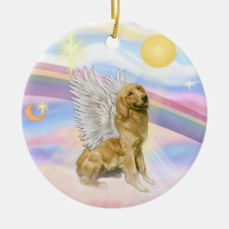 Clouds - Golden Retriever Angel (B1) Christmas Ornament