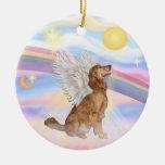 Clouds - Golden Retriever Angel Christmas Ornament