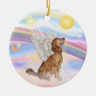 Clouds - Golden Retriever Angel Christmas Ornament