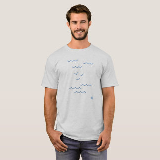 clouds, gulls and sea T-Shirt