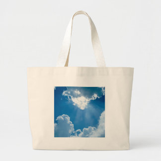 Clouds Heavens Rays Canvas Bag