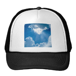 Clouds Heavens Rays Mesh Hat