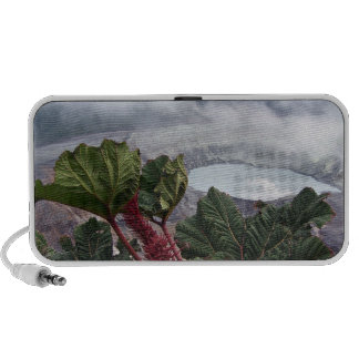 Clouds hoovering over the mountain peaks iPhone speaker