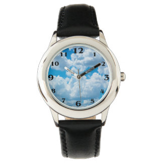 Clouds image Custom-Stainless-Steel-Black-Watch Watch