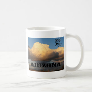 Clouds in Arizona sauaro cactus Route 66 Basic White Mug