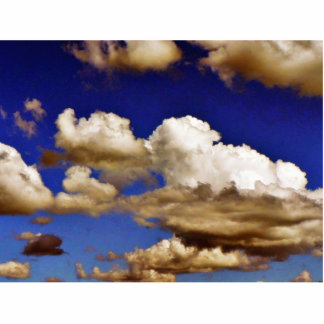 Clouds In Blue Sky Standing Photo Sculpture