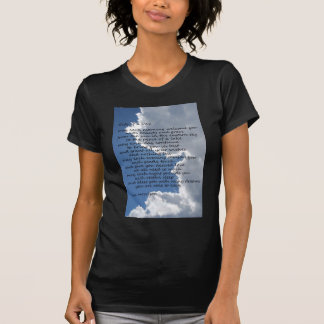 Clouds in blue sky with poem t shirts