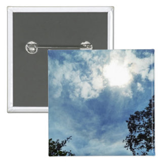 Clouds in Boothbay 2 Inch Square Button