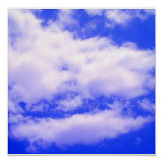 Clouds in Clear Blue Sky Square Poster