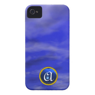 CLOUDS IN THE BLUE SKY SAPPHIRE GEM STONE MONOGRAM iPhone 4 COVERS